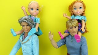 Elsa And Anna Toddlers Save A Bird Aviary Barbie Is The Pet Doctor Park Vet دیدئو Dideo