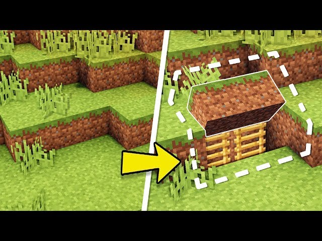 Minecraft How To Build An Easy Survival Secret Base Tutorial Hidden House دیدئو Dideo
