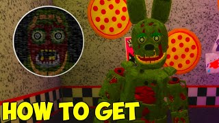 Finding Springtraps Secret And Halloween Event Badges In Roblox How To Get Forgotten Candy And Prototype Freddy Badges Roblox Fnaf Sister Location The Underground دیدئو Dideo