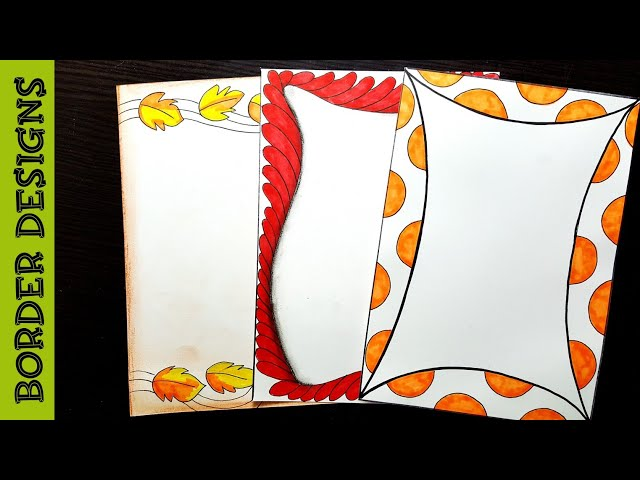 Autumn Border Designs On Paper Border Designs Project Work Designs Borders For Projects دیدئو Dideo