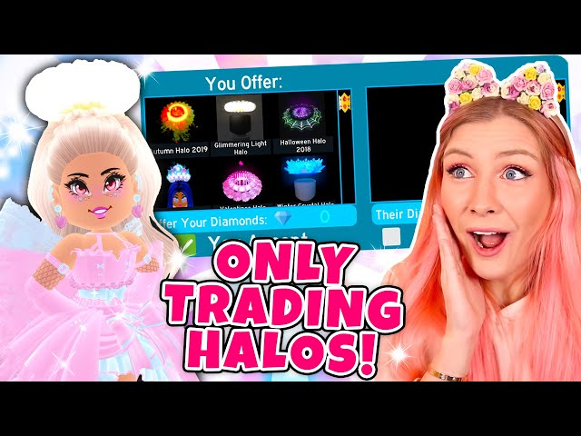 I Only Traded Halos For 24 Hours In Roblox Royale High School
