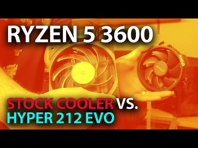Ryzen 5 3600 Stock Cooler Temps Vs Hyper 212 Evo Thermals Vs Wraith Stealth دیدئو Dideo