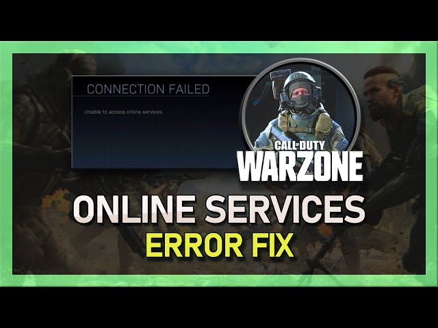 Modern Warfare How To Fix Unable To Access Online Services Connection Failed Problem دیدئو Dideo This error can occur on ps4, xbox. dideo