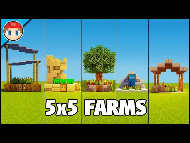 5 Minecraft 5x5 Farms Easy Tutorial You Can Build Too دیدئو Dideo