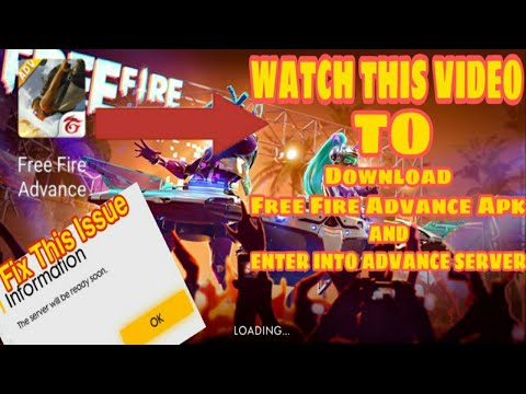 How To Enter In Free Fire Advance Server Download Free Fire Advance Apk دیدئو Dideo