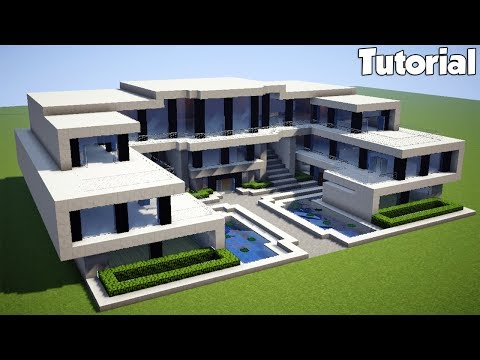 Minecraft How To Build A Realistic Modern House Tutorial 7 2018 دیدئو Dideo