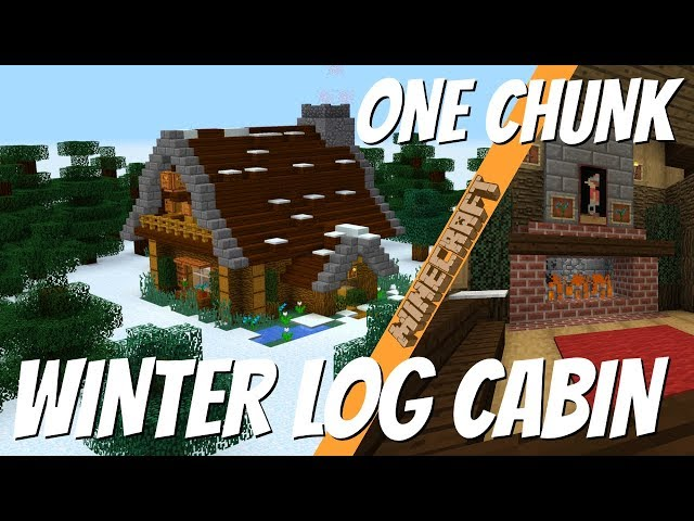 Minecraft How To Make A Winter Log Cabin In One Chunk 2018 With Avomance Minecraft House Tutorial دیدئو Dideo