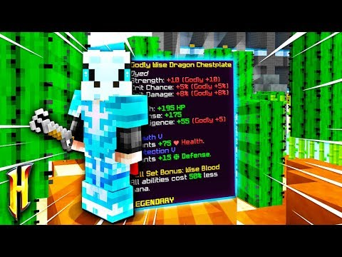 Hypixel Skyblock The Wise Dragon Armor Is Overpowered دیدئو Dideo How to get dragon armor in hypixel skyblock. dideo