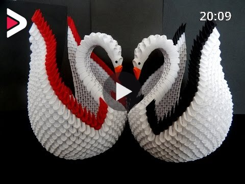 Trupti's Craft: 3D Origami Mini Diamond Pattern Swan | 360x480
