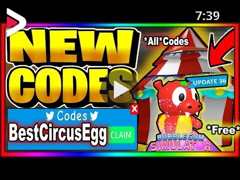 Bubbble Gum Simulator Roblox Codes 2020 All New Secret Admin Codes Roblox Bubble Gum Simulator Circus Event Update دیدئو Dideo