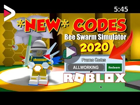 Cheat Codes For Bea Simulator On Roblox New Roblox Robux Promo Code Bee Swarm Simulator Codes 2020 All Working Codes In Bee Swarm Simulator Roblox دیدئو Dideo