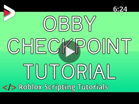 Obby Checkpoint Tutorial Roblox Scripting Tutorial دیدئو Dideo