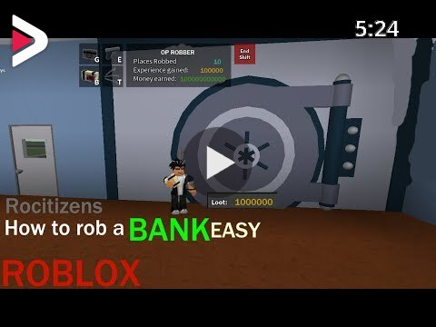 Roblox How To Rob A Bank In Rocitizen دیدئو Dideo