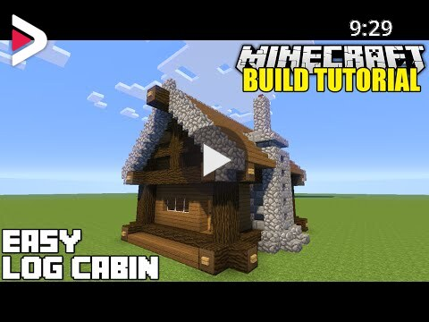Minecraft How To Build A Small Log Cabin Tutorial Easy Survival